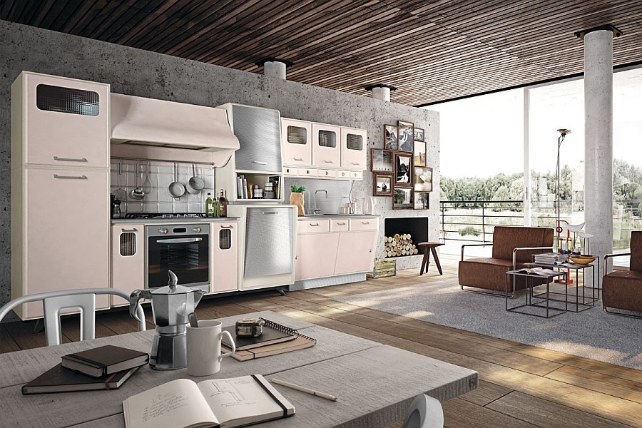 Vintage kitchen offers a refreshing modern take on fifties - Cuisine style annee 50 ...