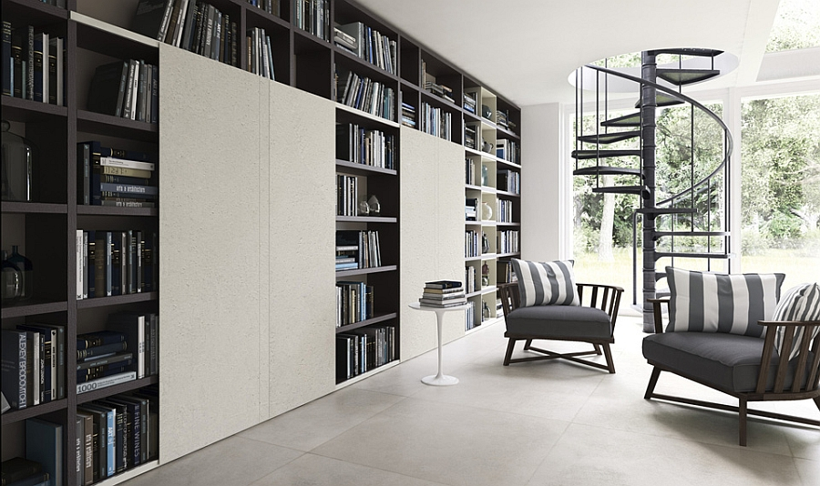 Contemporary Home Library contemporary living room wall units and libraries, ideas