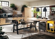 Sophisticated Modern Modular Kitchen With A Dash Of Vintage Charm!