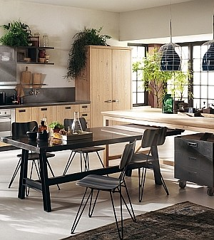 Trendy Social Kitchen from Diesel wih Scavolini