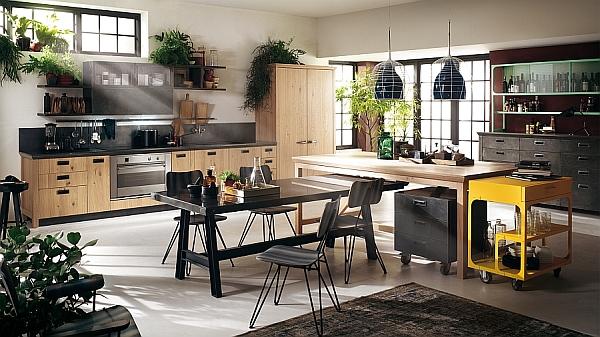 Trendy Social Kitchen from Diesel wih Scavolini