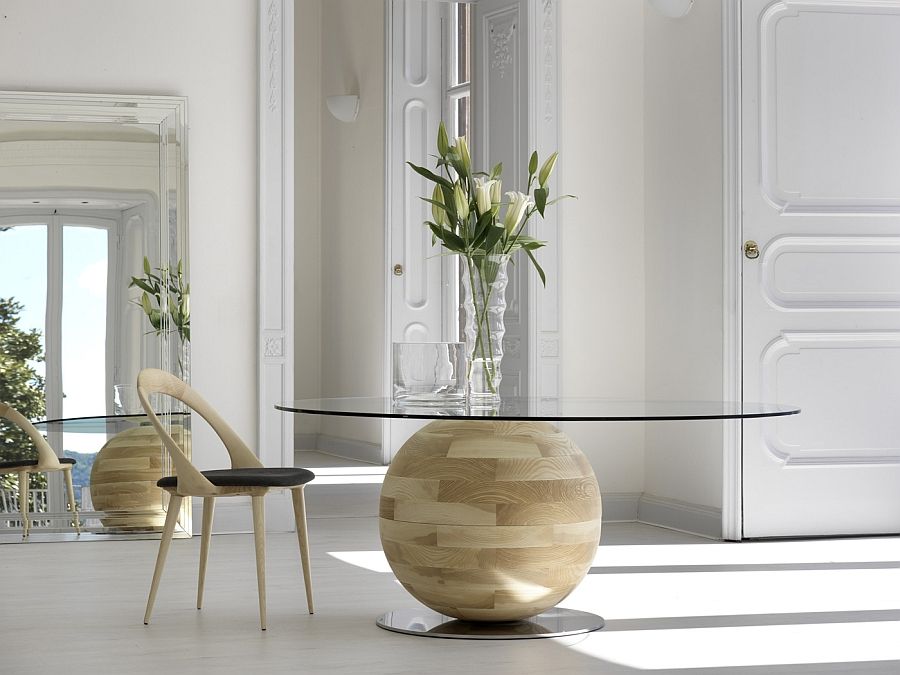 Amazing contemporary dining tables steal the show with a for Tavolo ovale sala da pranzo