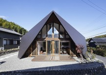 Creative Origami House In Japan Combines A Distinct Silhouette With Modern Minimalism