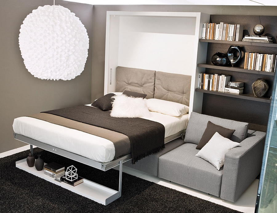 Use the extra seating space even when using the muphy bed