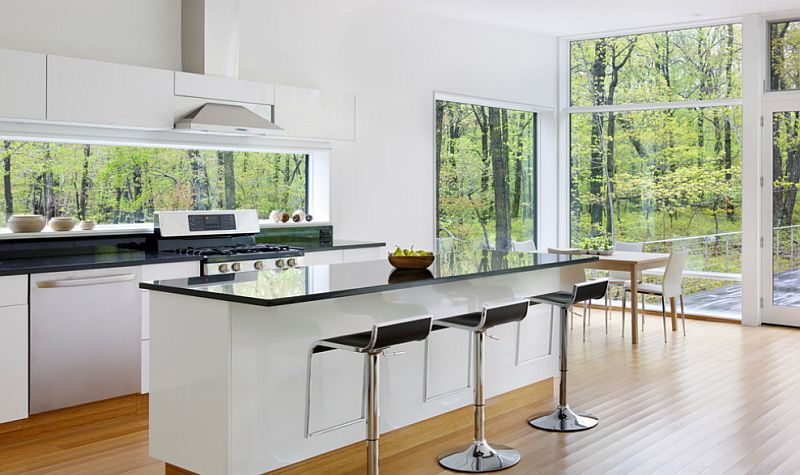 Black and white kitchens ideas photos inspirations - Cocinas blancas y negras ...