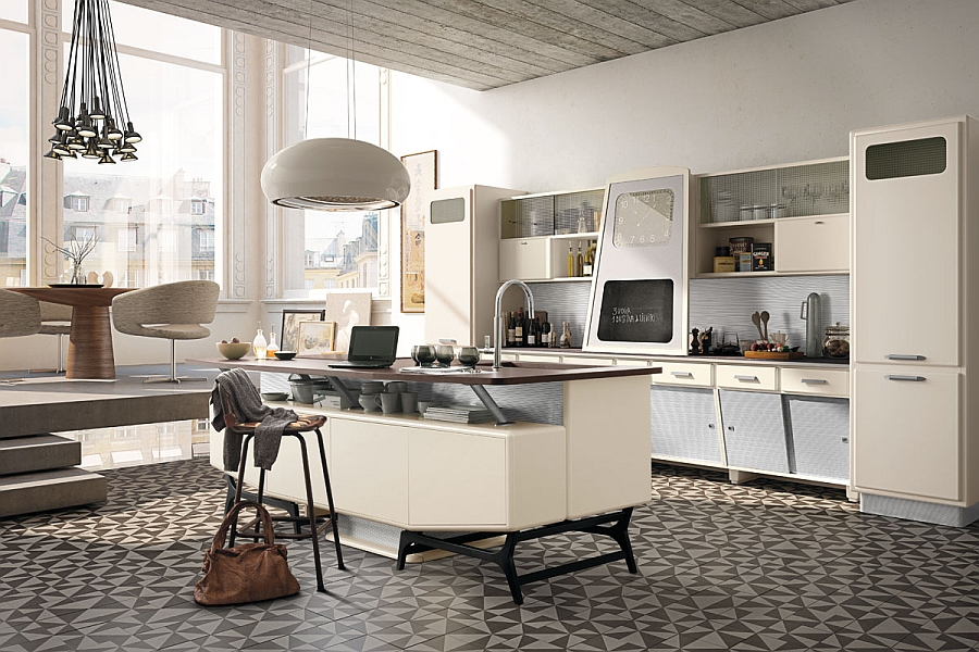 Vintage kitchen offers a refreshing modern take on fifties for Modern kitchen looks