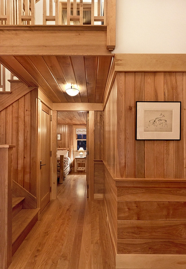 Interior Wood Paneling: Cozy Cabin Retreat Combines Warmth Of Wood With A Bright