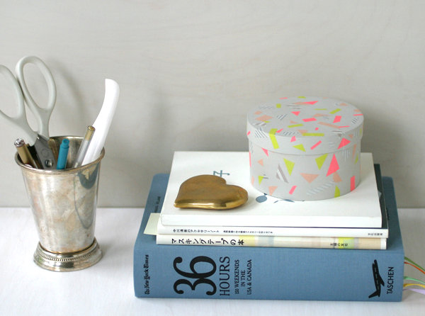 Washi tape box DIY project