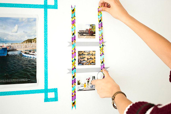 Washi tape picture frames Affordable DIY Projects For Budget Savvy Design Enthusiasts