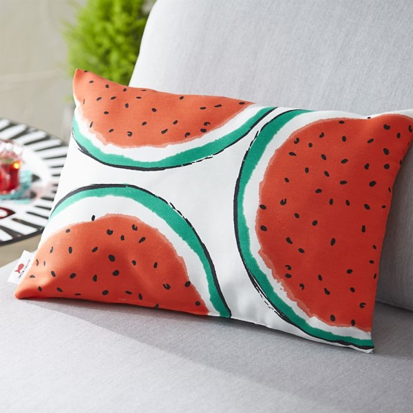 Watermelon pillow for the outdoors