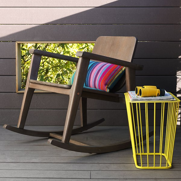 Yellow wire side table