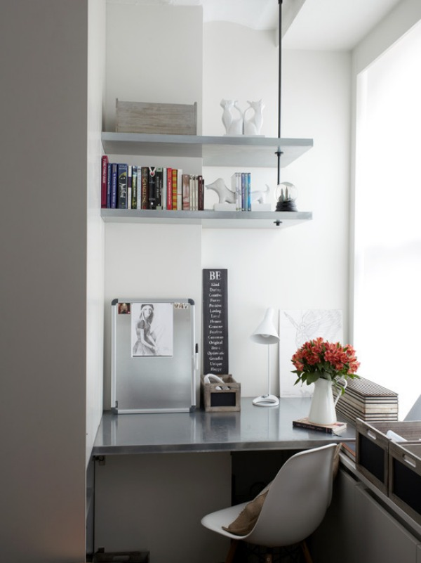 contemporary-home-office corner shelf