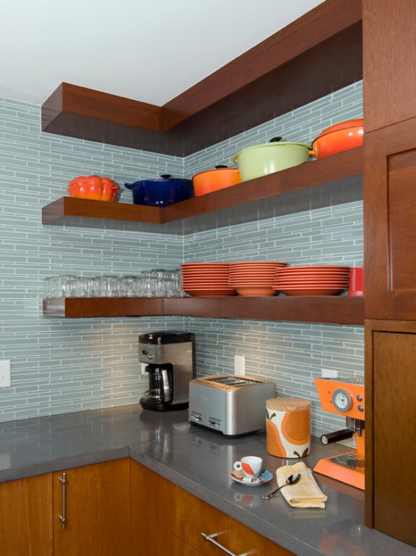 contemporary kitchen corner shelf Want To Maximize Your Space? Try Some Corner Shelving!