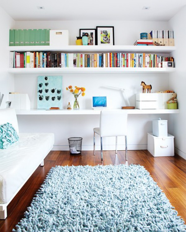 19 floating shelves ideas for a beautiful home for Bookcases for kids room