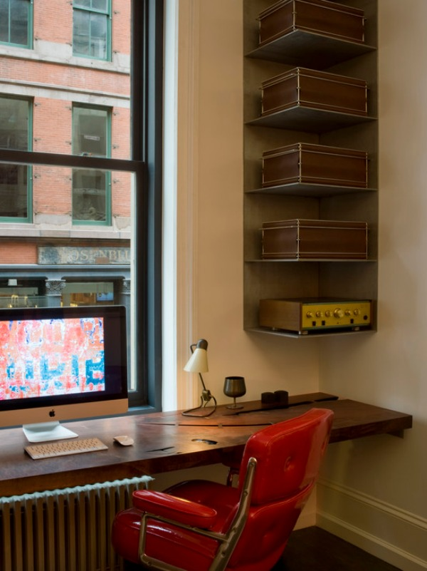 home office decorating ideas nyc. office corner shelf spacesaving shelves design ideas home decorating nyc