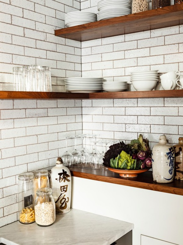 industrial-kitchen corner shelf
