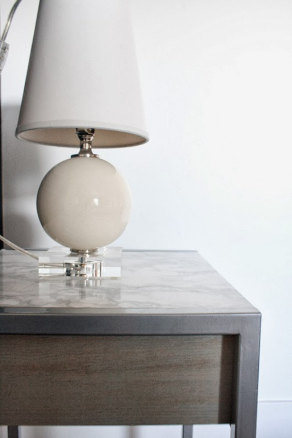 marble contact paper side table