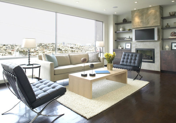 view in gallery modern living room floating shelves