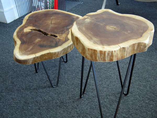Reclaimed Tree Trunk Tables For The Eco Friendly Home
