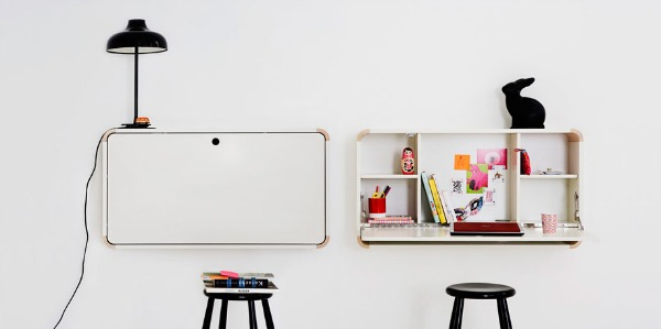 white folding desk1 Space Saving Hideaway Desks