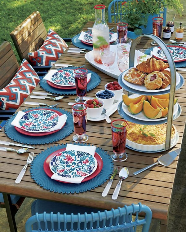 4th of July table setting by Crate & Barrel