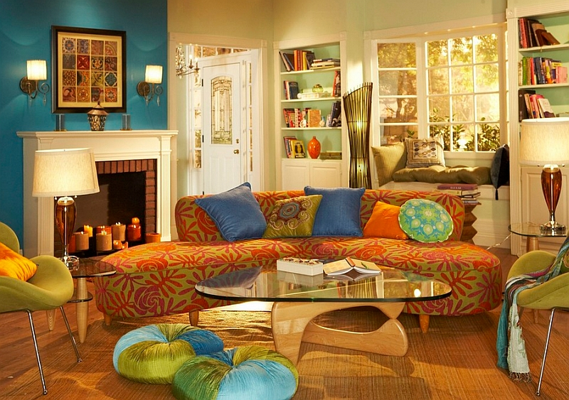 A Bohemian approach to colors can really give your home a personality of its own
