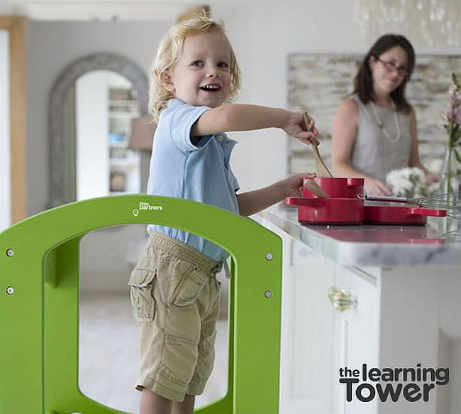 A helping stool for the kids in the kitchen