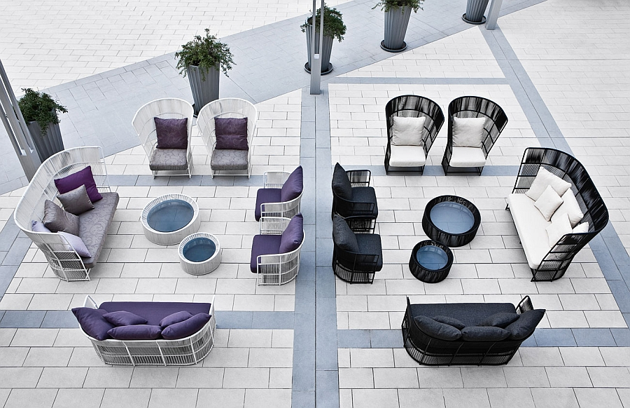 A lovely outdoor lounge decorated using the Tibidabo Collection