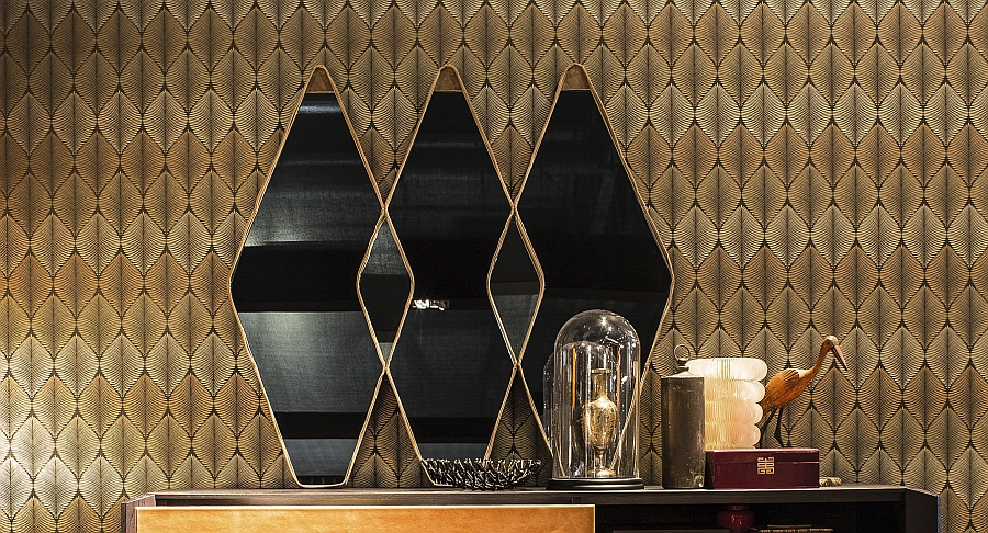 A trio of Vanity Fair mirrors helo create an instant focal point with ease
