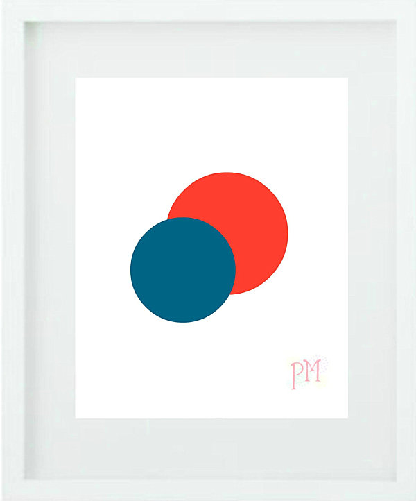 Abstract minimalist wall art from Etsy shop Poppy Loves Prints