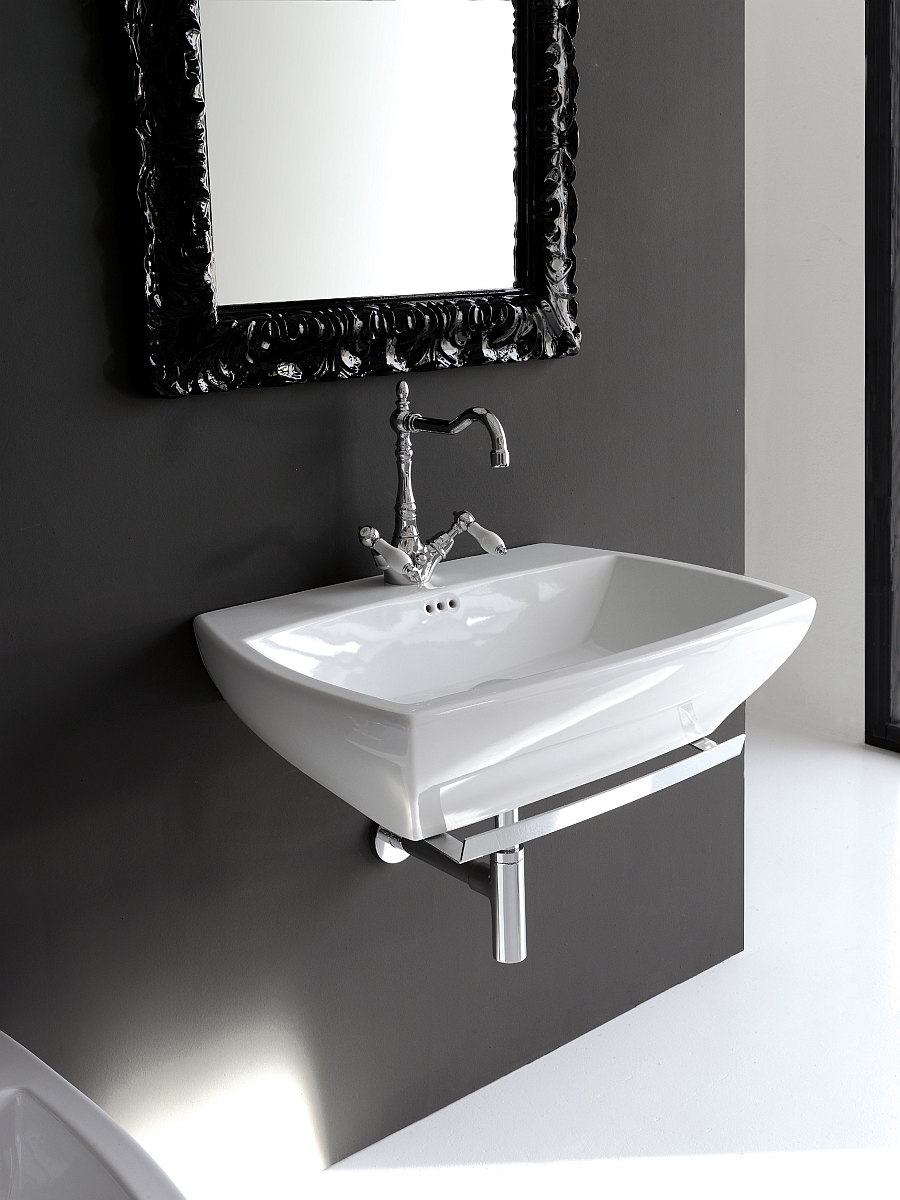 Beautiful and sleek washbasin from the Jazz collection for those who love the all-white look
