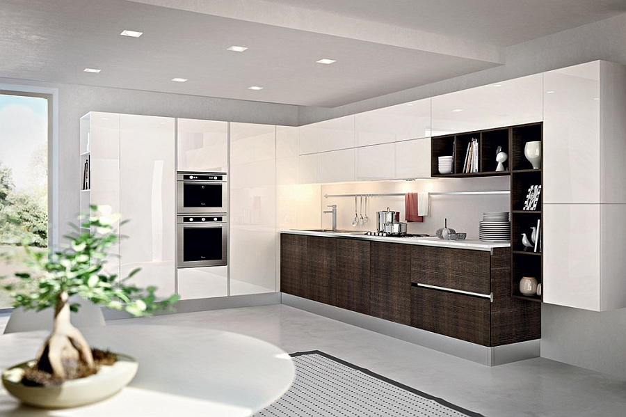 Beautiful eco-friendly kitchen with Italian design