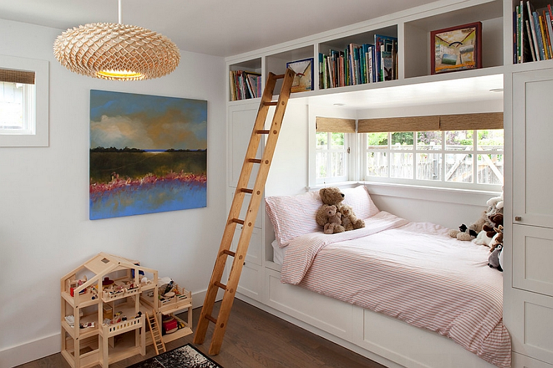Beautiful kids' room that could easily pass off as an adult bedroom!