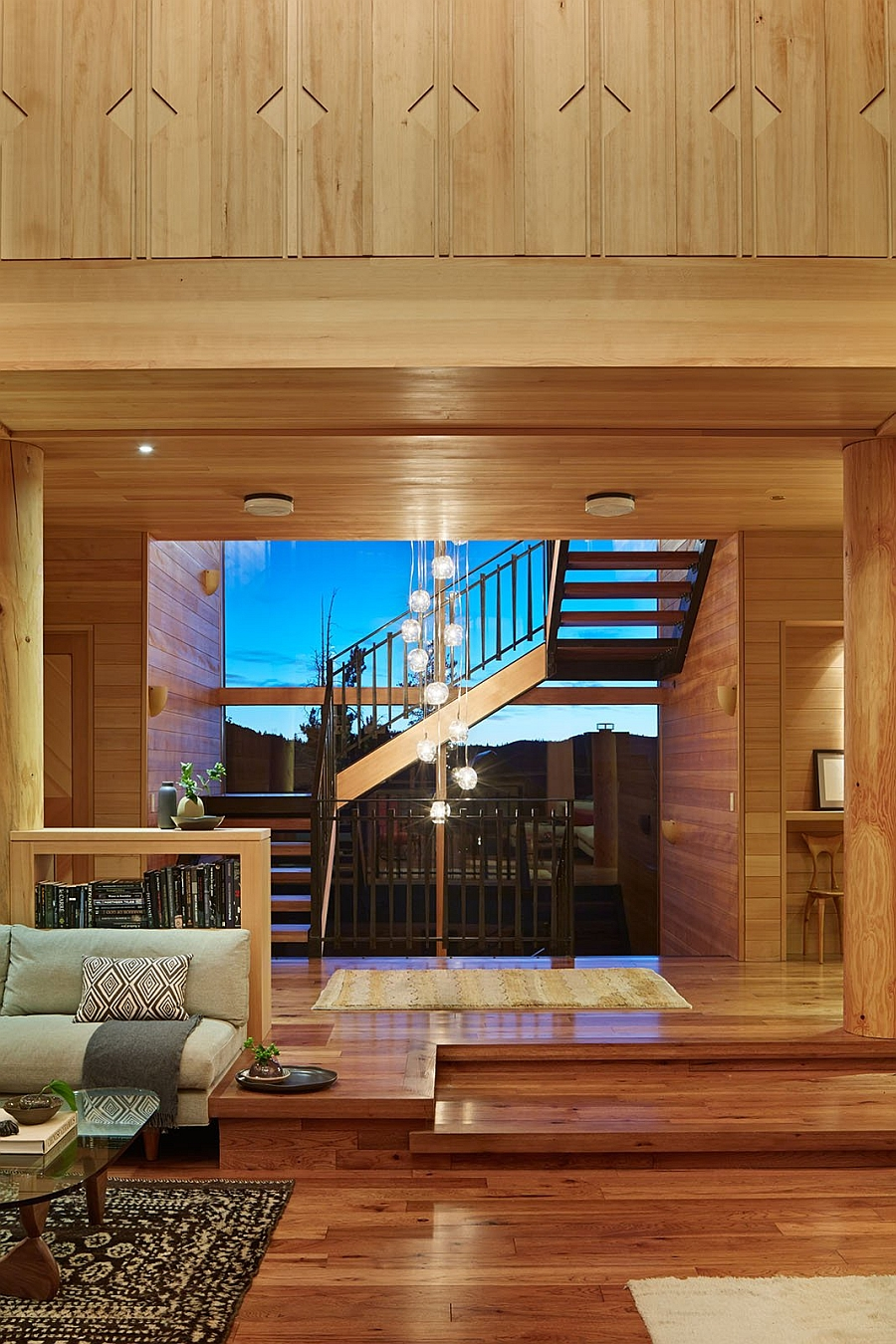 Beautiful lower level of the stylish residence inside California's Ski Resort