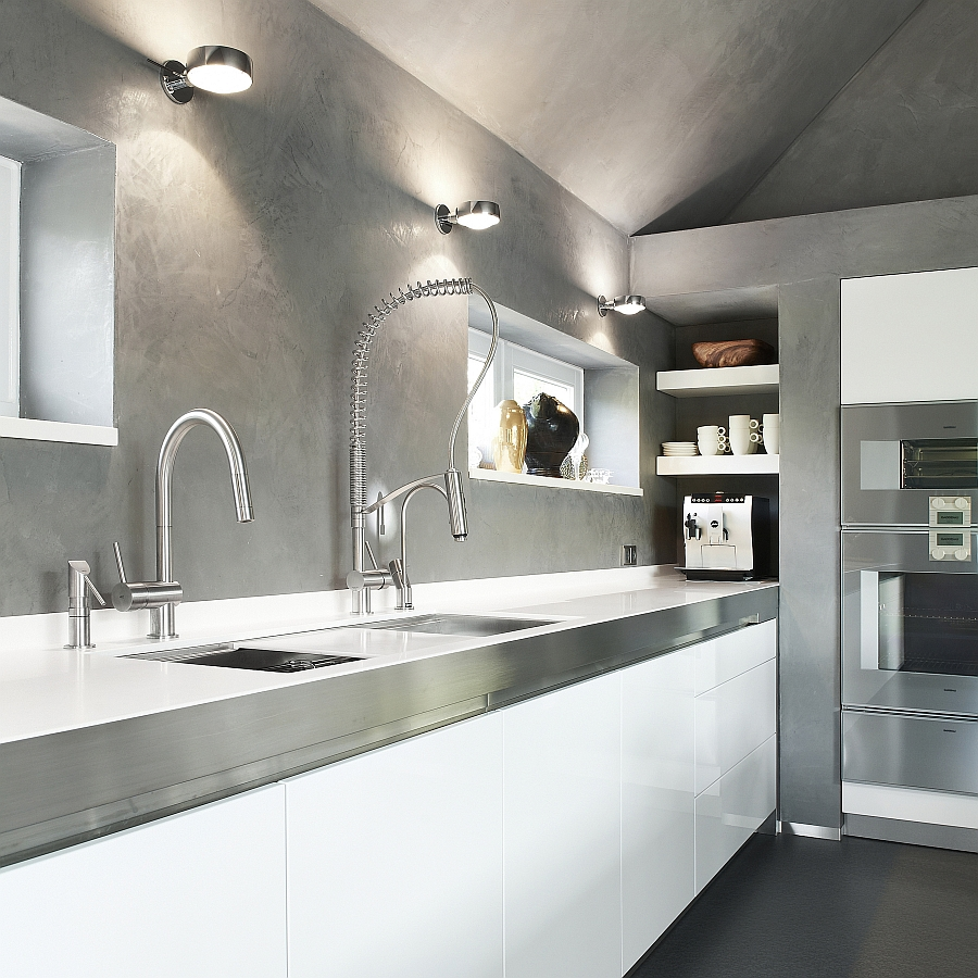 21 Sleek And Modern Metal Kitchen Designs: Exquisite Kitchen Faucets Merge Italian Design With
