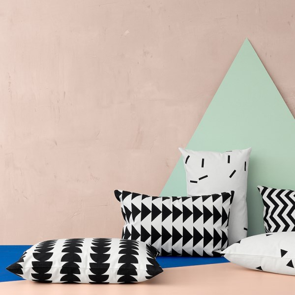 Black and white cushions from ferm LIVING