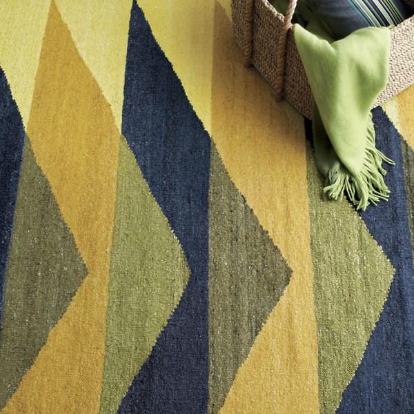 Bold geometric rug