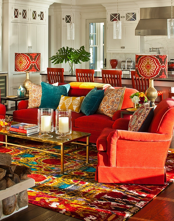 view in gallery bold lampshades and candles really drive home the bohemian look of the lounge - Bohemian Design Ideas