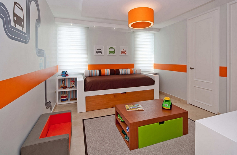 View In Gallery Brilliant Contemporary Kidsu0027 Room Can Easily Be Transformed  Into A Teen Or Adult Bedroom