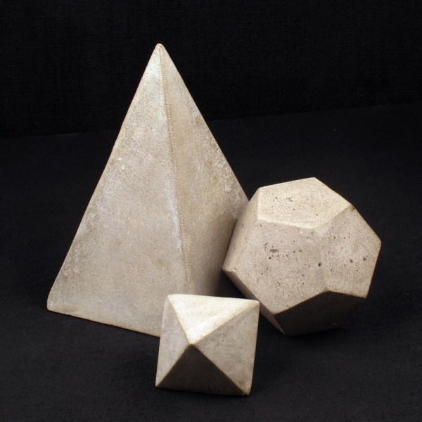 Cement Geometric Objects from Serax via Darkroom