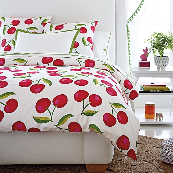 Cherry print bedding Childrens Bedding Options With Summer Style
