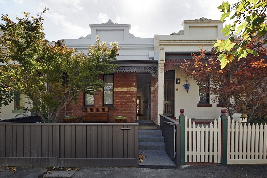 view in gallery classic facade of the cross stitch house in melbourne australia classic victorian house gets a modern - Australian Victorian Houses