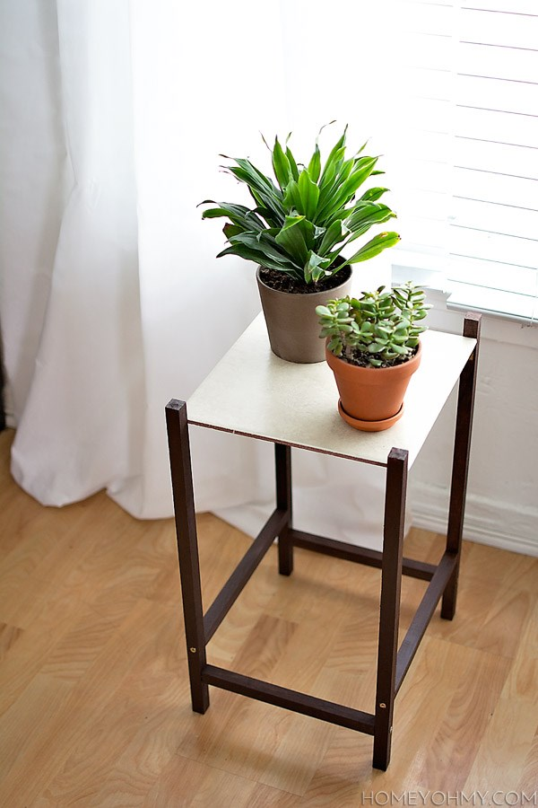 Clean-lined modern plant stand