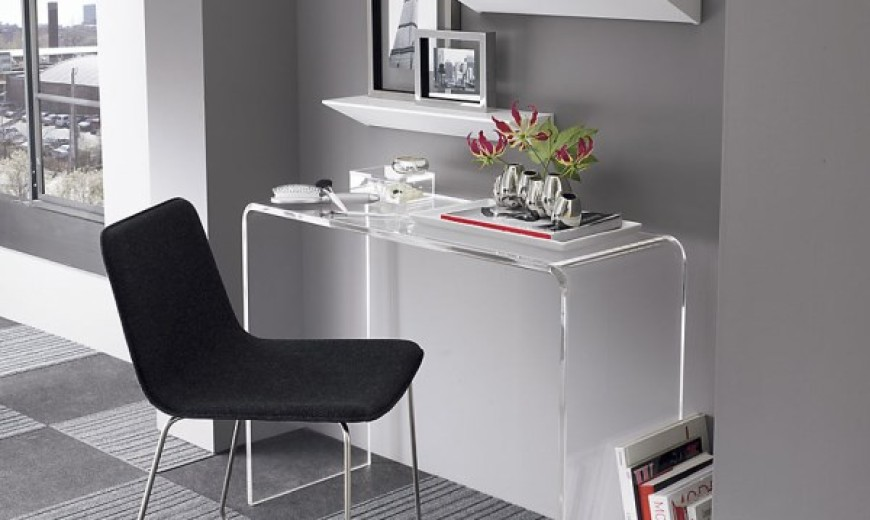 clear office. Design Ideas For The Small Home Office Clear