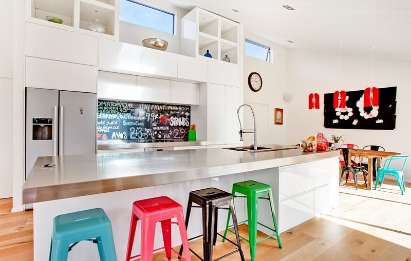 Colorful And Fun Family Friendly Kitchen on contemporary kid friendly apartment