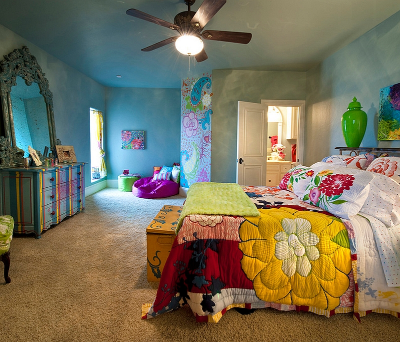 view in gallery colorful bedroom captures the urban bohemian trend perfectly