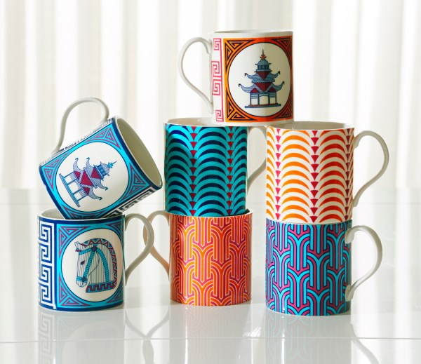 Colorful mugs from Jonathan Adler
