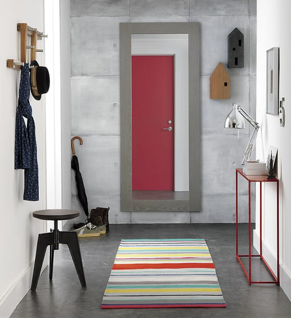 Colorful striped dhurrie runner