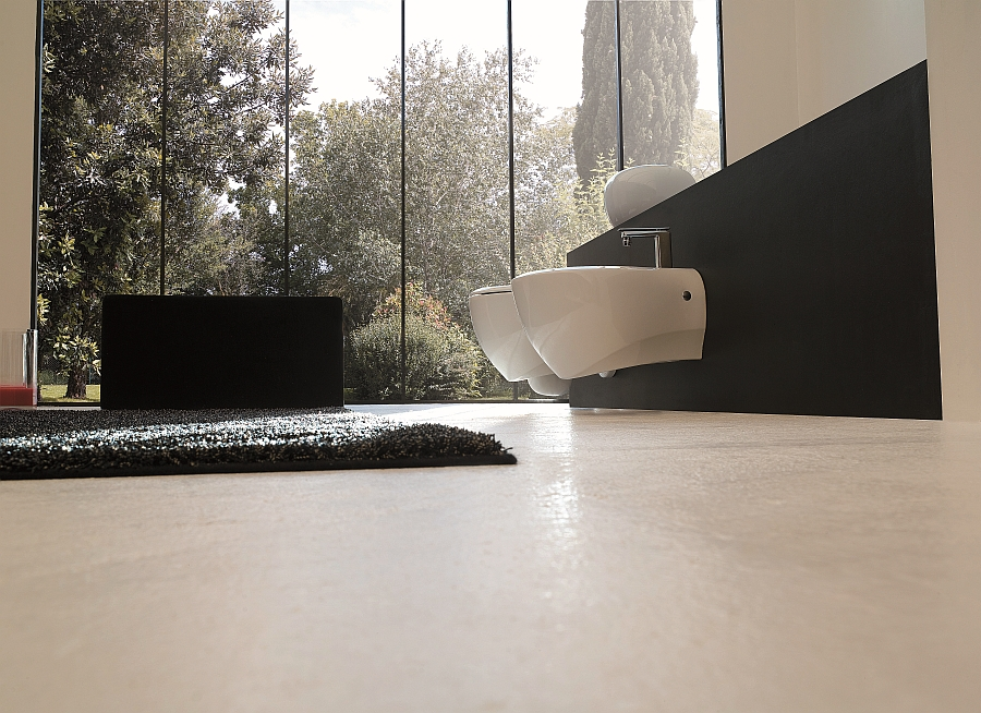 Combine the retro with the minimal in your bathroom with trendy sanitaryware