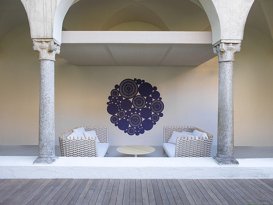 Comfy outdoor seating for the balcony